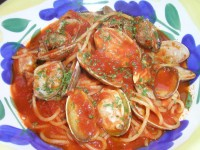 ボンゴレのトマトパスタ